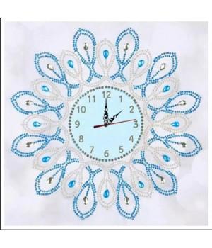 Годинник біло-блакитний